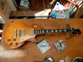 Keith-Richards 1959 Les-Paul Guitar - under scrutiny for Guitar and Bass Magazine