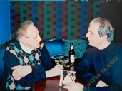 Les Paul and Steve Clarke having a beer and a chat!
